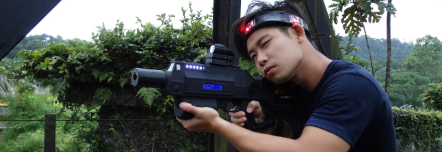 college student laser tag